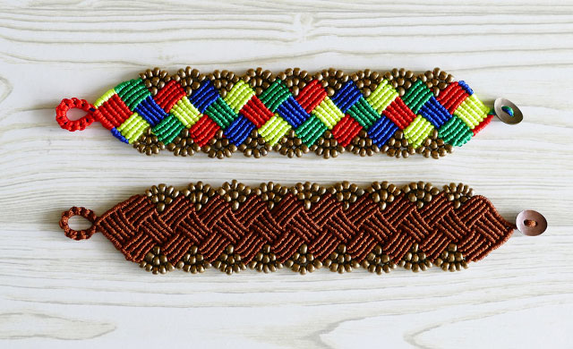 macrame bracelet tutorial for beginners