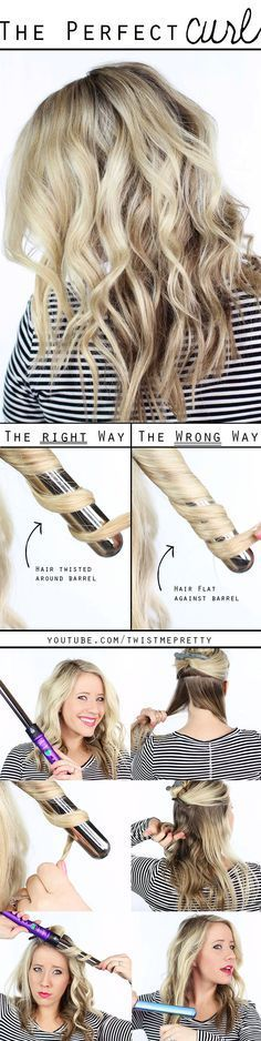 1 inch curling wand tutorial