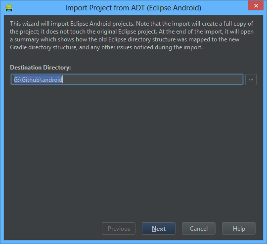 android studio import project tutorial
