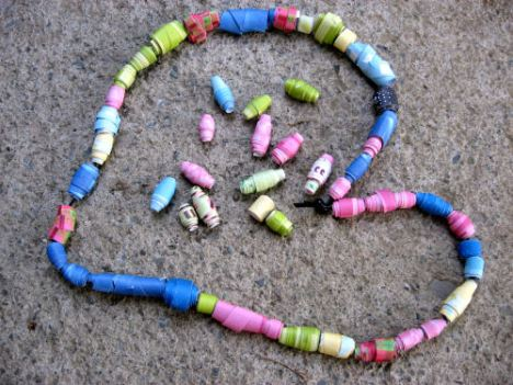 how to make paper beads craft tutorial 6