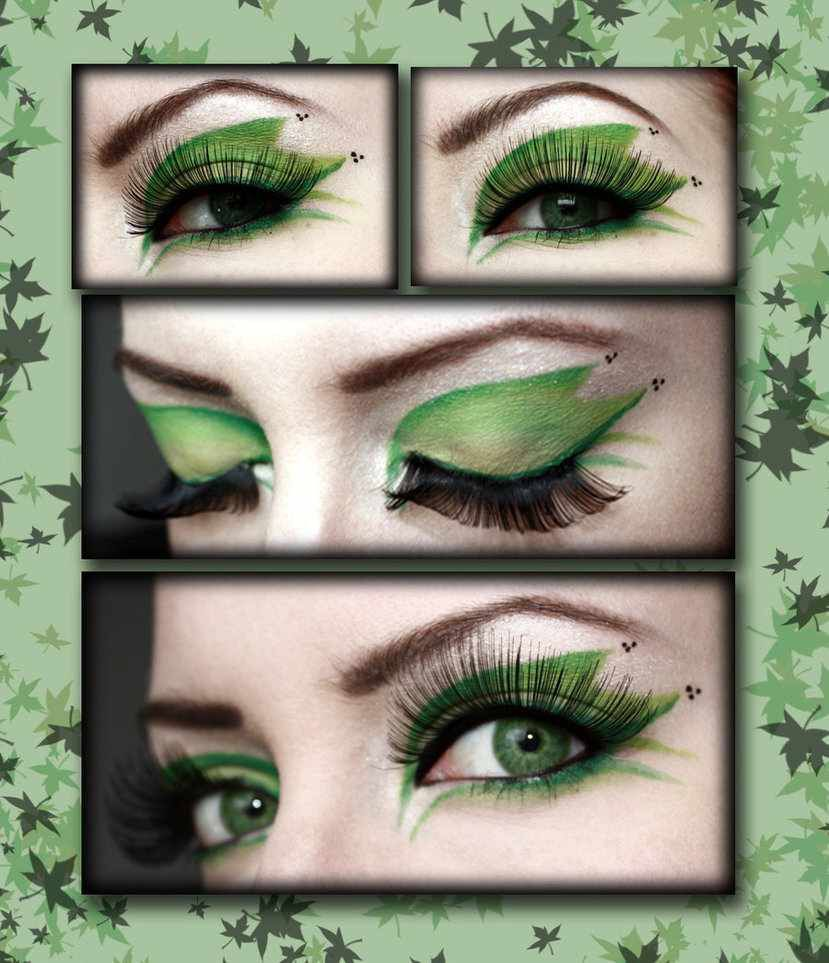 poison ivy eye makeup tutorial