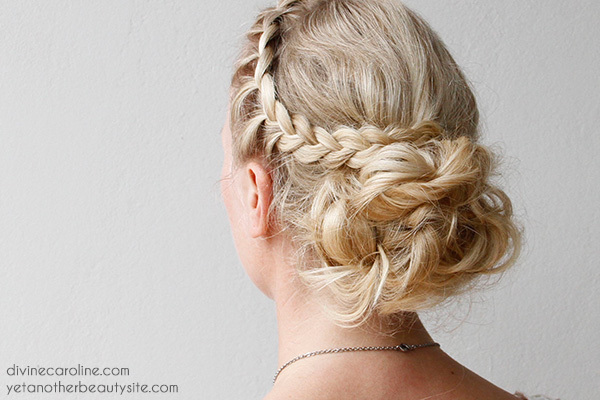 messy wedding updo tutorial