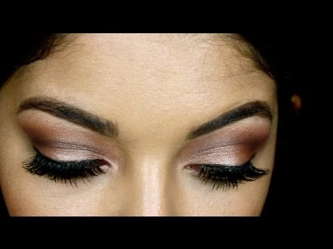 holiday shimmer eye makeup tutorial