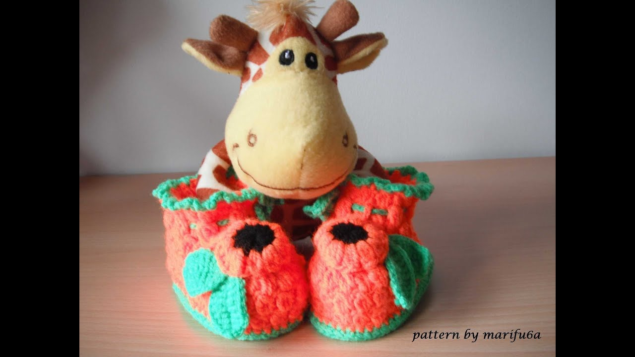 how to crochet baby booties tutorial