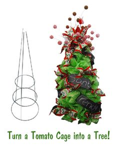 tomato cage christmas angel tutorial